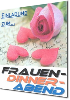 Frauen-Dinner-Abend Einladung in den Cross-Point2